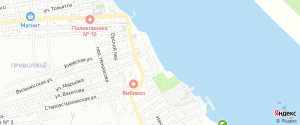 Переулок Бубнова на карте Астрахани с номерами домов