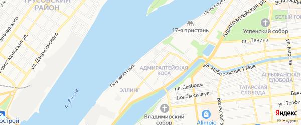 ГСК Волна на карте улицы Бабефа с номерами домов