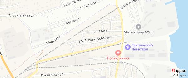 Улица Ифрата Бурбаева на карте села Солянки с номерами домов