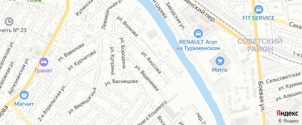 Улица Аносова на карте Астрахани с номерами домов