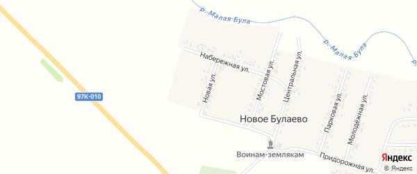 Новая улица на карте деревни Новое Булаево с номерами домов