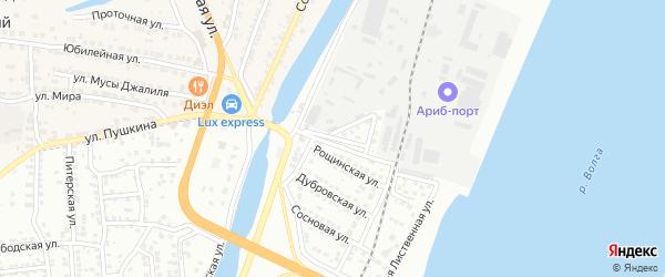 Лиственная 1-я улица на карте Астрахани с номерами домов