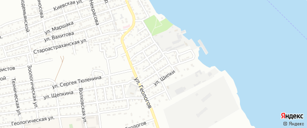 Улица Александра Блока на карте Астрахани с номерами домов