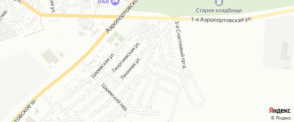 Черничный переулок на карте Астрахани с номерами домов