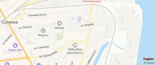 Тихий переулок на карте села Солянки с номерами домов