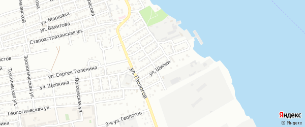 Нанайская улица на карте Астрахани с номерами домов