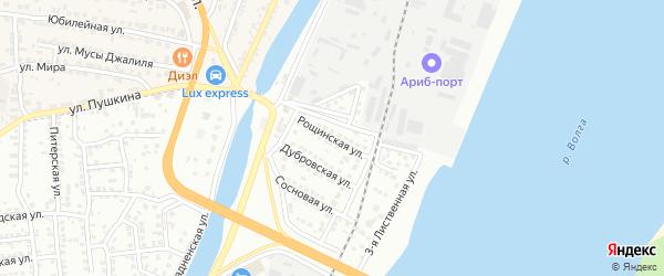 Рощинская улица на карте Астрахани с номерами домов