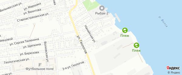 Улица Шипки на карте Астрахани с номерами домов