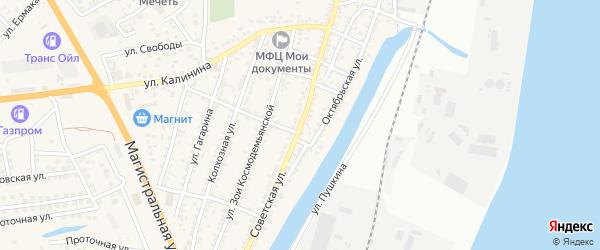 Советская улица на карте села Солянки с номерами домов
