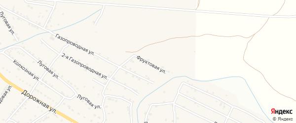 Фруктовая улица на карте села Яксатово с номерами домов