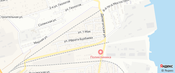Степная улица на карте села Солянки с номерами домов