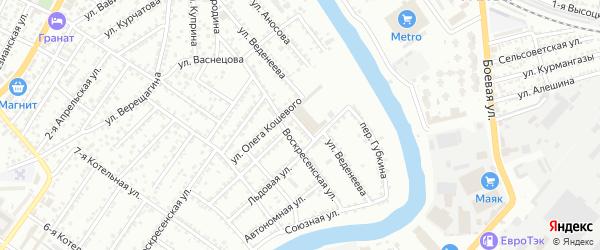 Антоновская улица на карте Астрахани с номерами домов