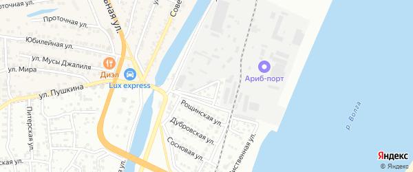 Пушкинский переулок на карте Астрахани с номерами домов