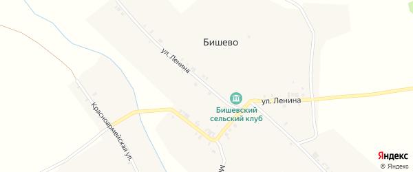 Улица Ленина на карте деревни Бишево с номерами домов