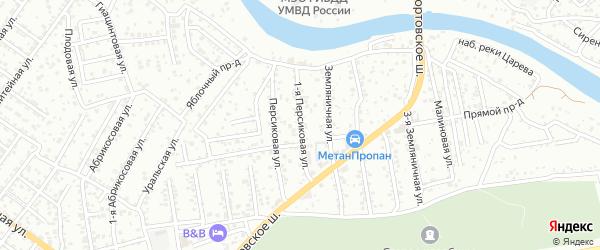 Персиковая 1-я улица на карте Астрахани с номерами домов