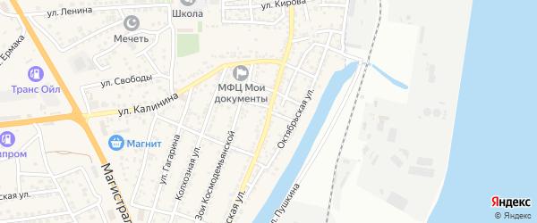 Переулок Урицкого на карте села Солянки с номерами домов