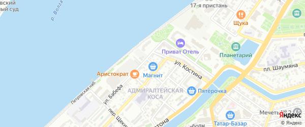Валдайский переулок на карте Астрахани с номерами домов