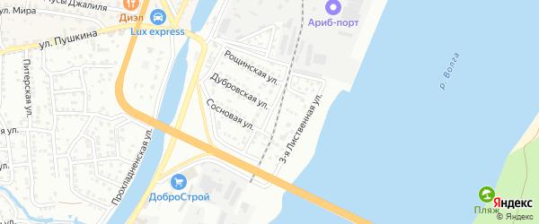 Лиственная 2-я улица на карте Астрахани с номерами домов