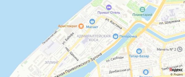 Переулок Островского на карте Астрахани с номерами домов
