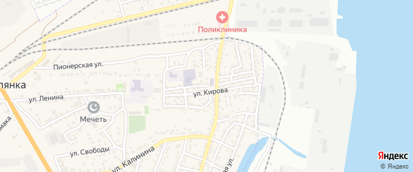 Трудовая улица на карте села Солянки с номерами домов