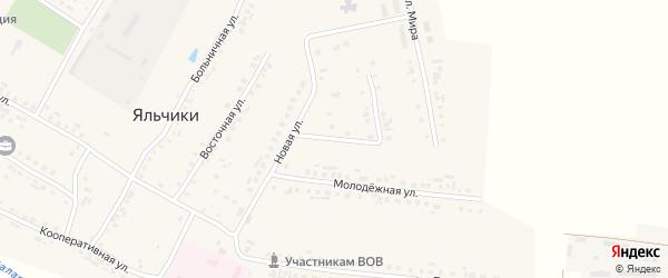Улица Николаева на карте села Яльчиков с номерами домов