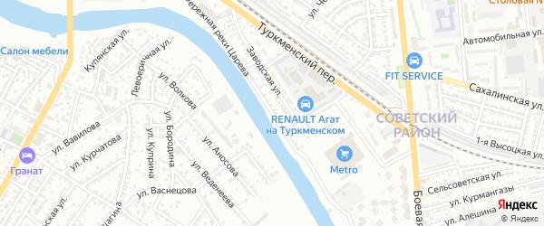 Улица Набережная реки Царева на карте Астрахани с номерами домов