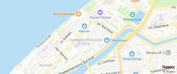 Рабочая улица на карте Астрахани с номерами домов