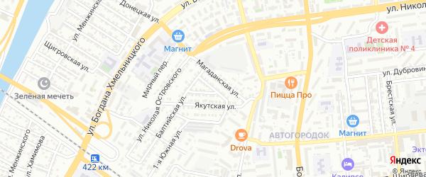 Речная улица на карте Астрахани с номерами домов