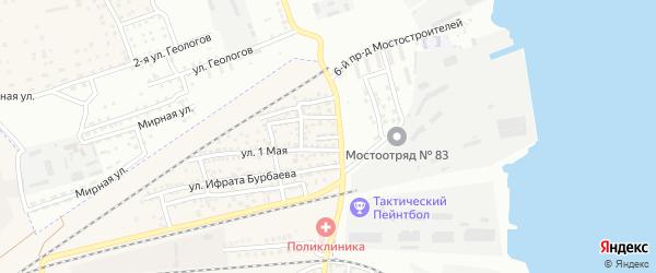 Кривой переулок на карте села Солянки с номерами домов