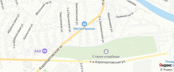 Земляничная 1-я улица на карте Астрахани с номерами домов