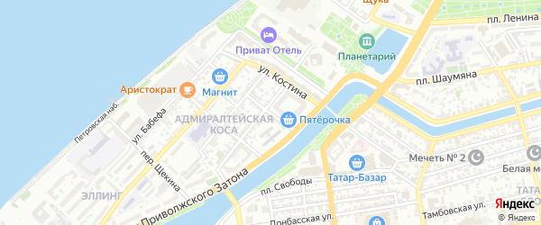 Улица Грибоедова на карте Астрахани с номерами домов
