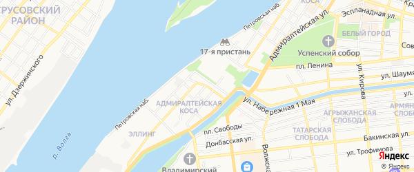 ГСК N42 на карте улицы Костина с номерами домов