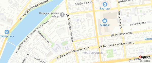 Улица Гоголя на карте Астрахани с номерами домов
