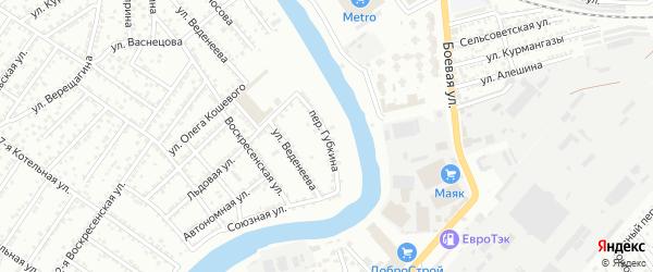 Переулок Губкина на карте Астрахани с номерами домов