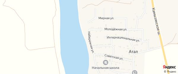 Набережная улица на карте села Атала с номерами домов