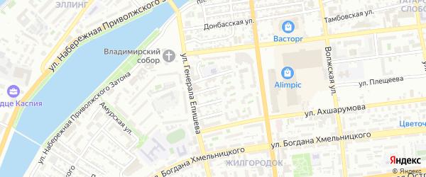Медицинская улица на карте Астрахани с номерами домов
