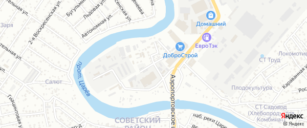 Заводской 8-й переулок на карте Астрахани с номерами домов