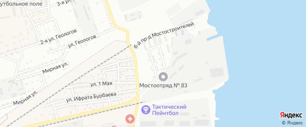 Мостостроителей 2-й проезд на карте Астрахани с номерами домов