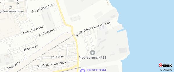 Мостостроителей 4-й проезд на карте Астрахани с номерами домов