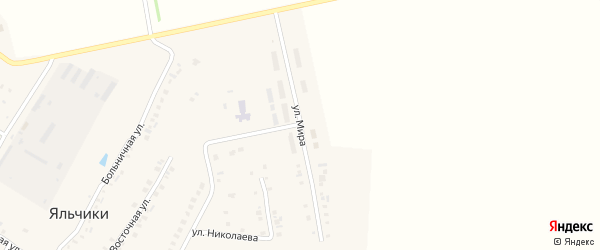 Улица Мира на карте села Яльчиков с номерами домов