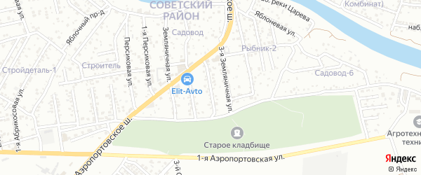 Набережная Семиковки 2-я улица на карте Астрахани с номерами домов