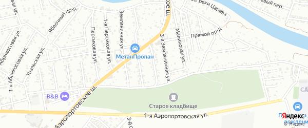 Малиновая 2-я улица на карте Астрахани с номерами домов