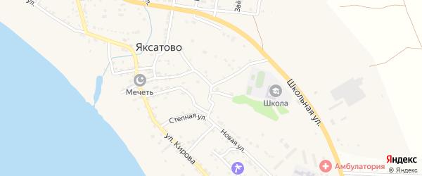 Тепличная улица на карте села Яксатово с номерами домов