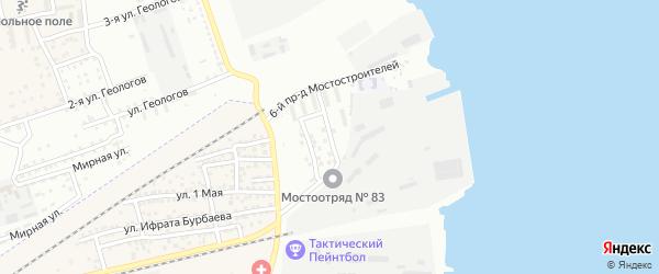 Мостостроителей 5-й проезд на карте Астрахани с номерами домов
