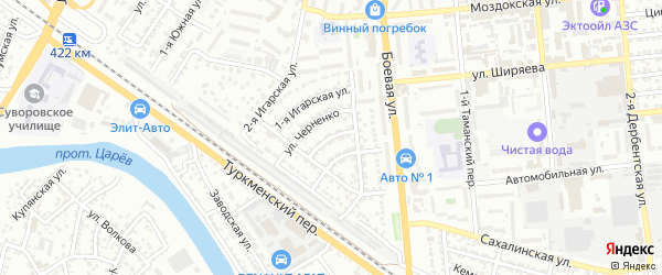 Улица Боевая 3-й проезд на карте Астрахани с номерами домов