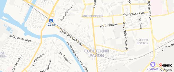ГСК Южный проезд-2 на карте Астрахани с номерами домов