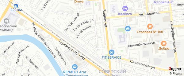 Улица Боевая 2-й проезд на карте Астрахани с номерами домов