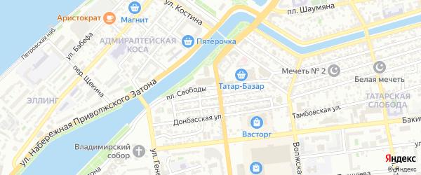 Площадь Свободы на карте Астрахани с номерами домов