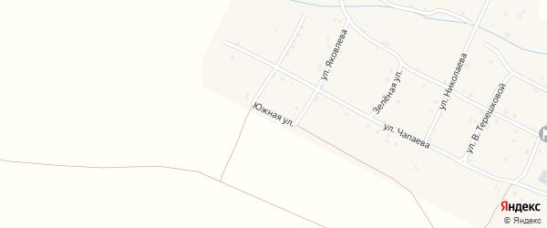 Южная улица на карте села Шигали с номерами домов