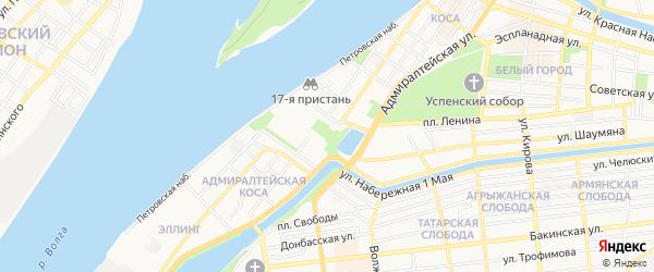 ГСК Дружба на карте Астрахани с номерами домов